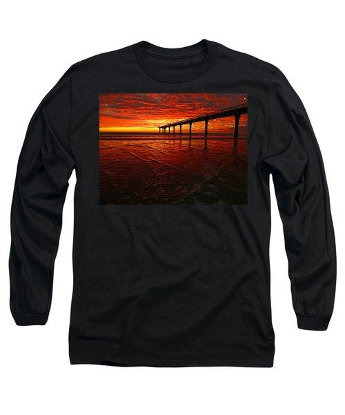 Blood Red Dawn Long Sleeve T-Shirt