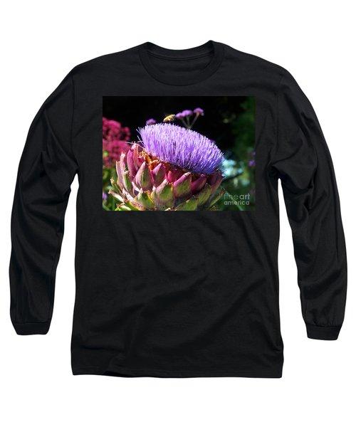 Blooming 'choke Long Sleeve T-Shirt by Kathy McClure