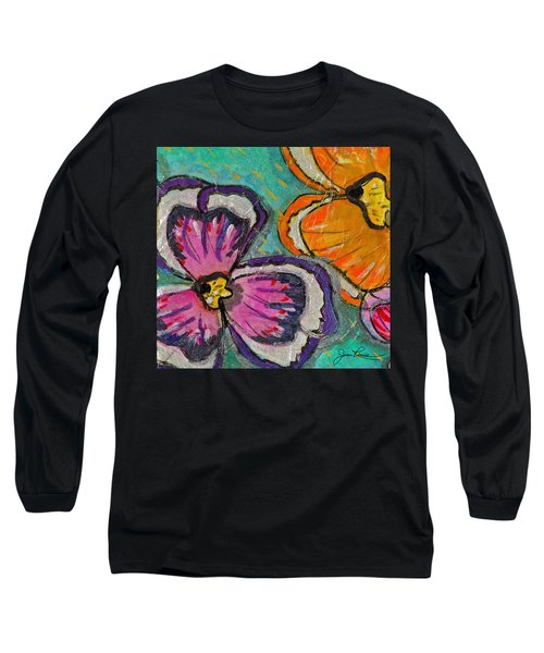Long Sleeve T-Shirt featuring the painting Blooming Flowers by Joan Reese