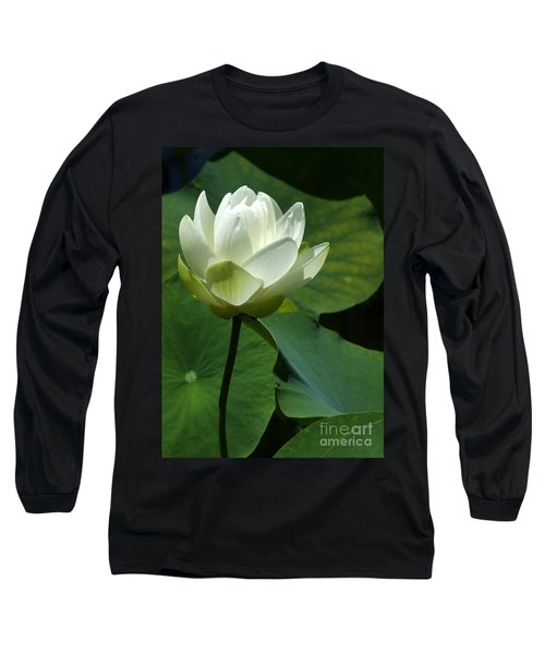 Blooming White Lotus Long Sleeve T-Shirt