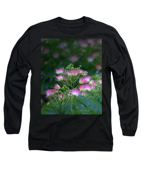 Blooms Of The Mimosa Tree Long Sleeve T-Shirt