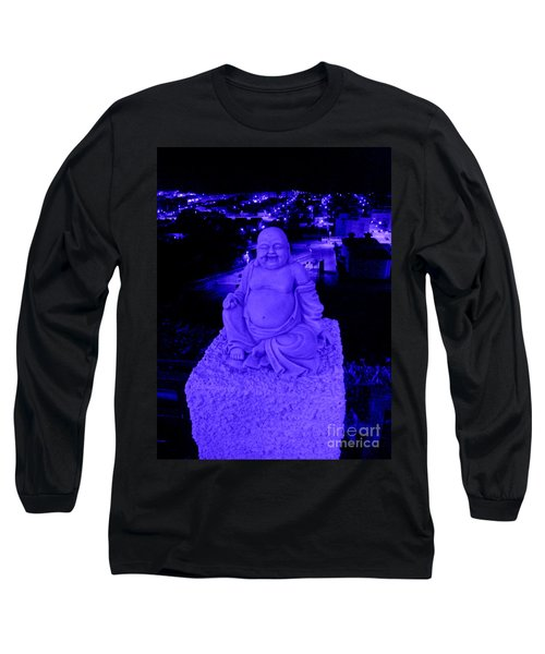 Blue Buddha And The Blue City Long Sleeve T-Shirt