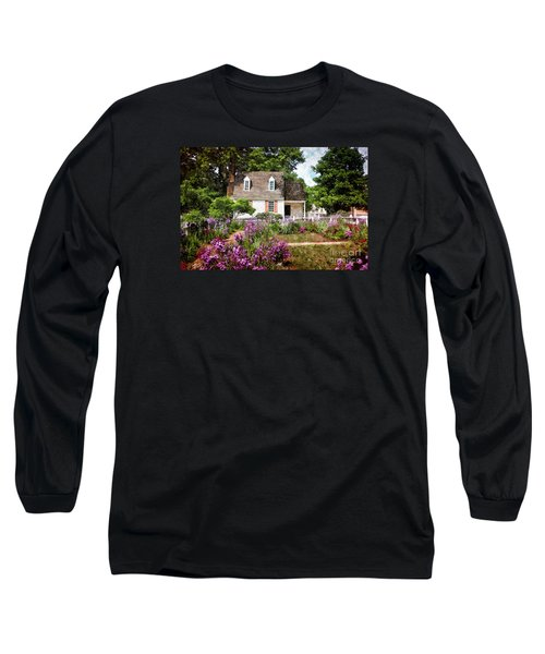 Blue Cottage Long Sleeve T-Shirt by Shari Nees