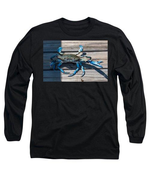 Blue Crab Pincher Long Sleeve T-Shirt
