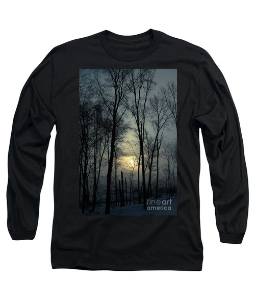 Blue Daybreak Long Sleeve T-Shirt by Karol Livote