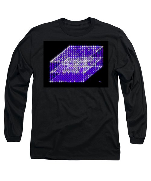 Blue Diamond Grid Long Sleeve T-Shirt