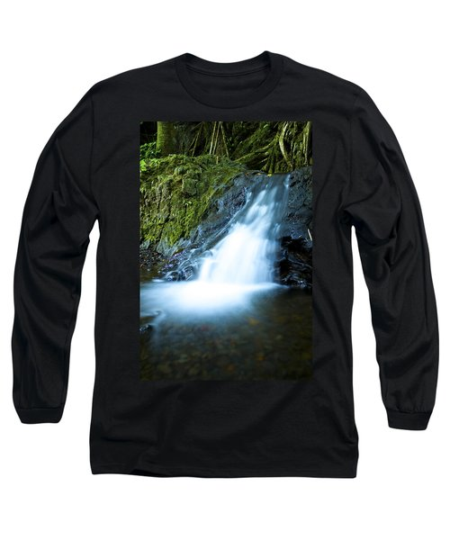 Blue Falls Off The Beaten Path Long Sleeve T-Shirt