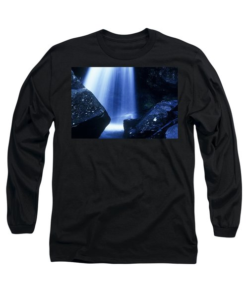 Long Sleeve T-Shirt featuring the photograph Blue Falls by Rodney Lee Williams