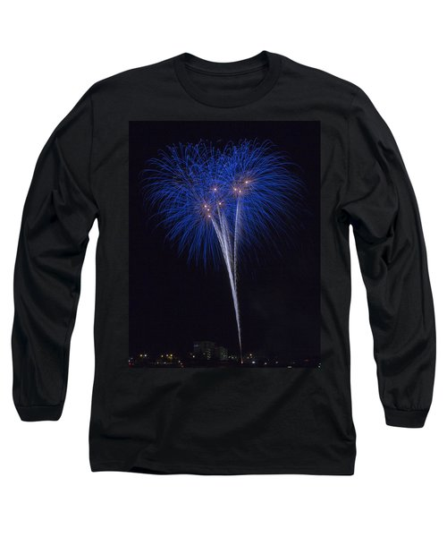 Blue Flowers Long Sleeve T-Shirt