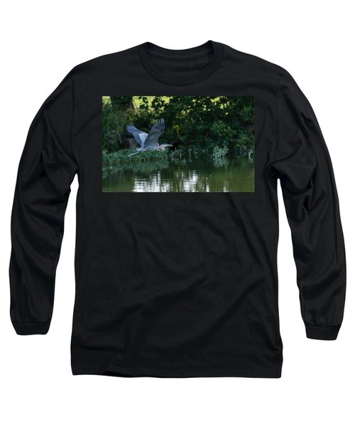 Blue Heron Take-off Long Sleeve T-Shirt