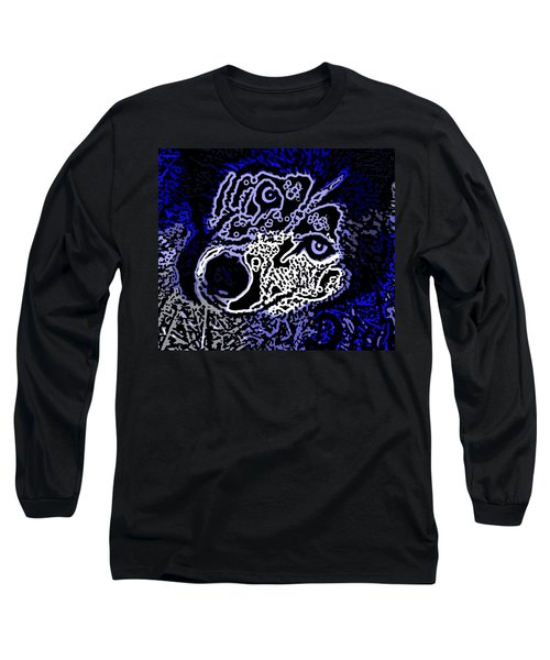 Blue Husky Long Sleeve T-Shirt by Kevin Caudill