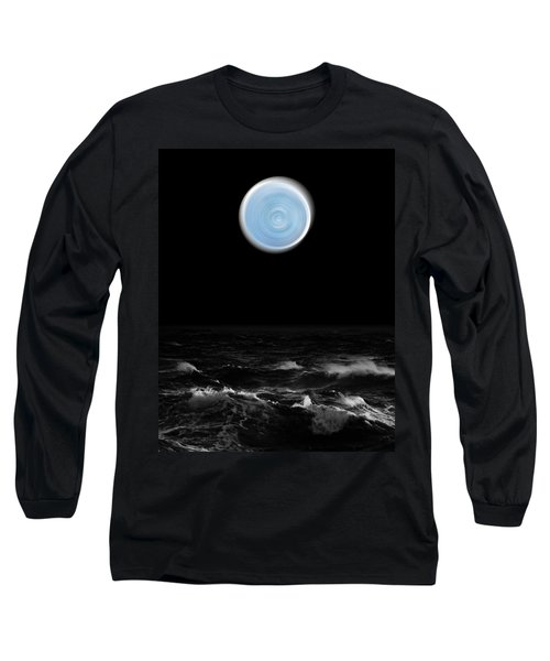 Blue Moon Over The Sea Long Sleeve T-Shirt