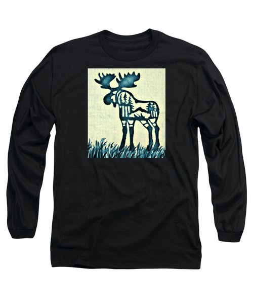 Blue Moose Long Sleeve T-Shirt by Larry Campbell