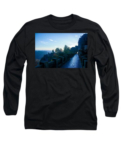 Blue Morning On The Bastei Long Sleeve T-Shirt