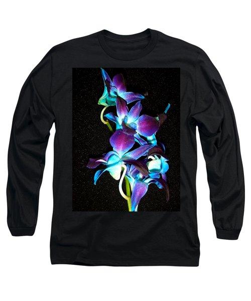 Blue Orchids Long Sleeve T-Shirt
