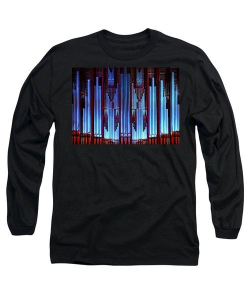 Blue Organ Pipes Long Sleeve T-Shirt