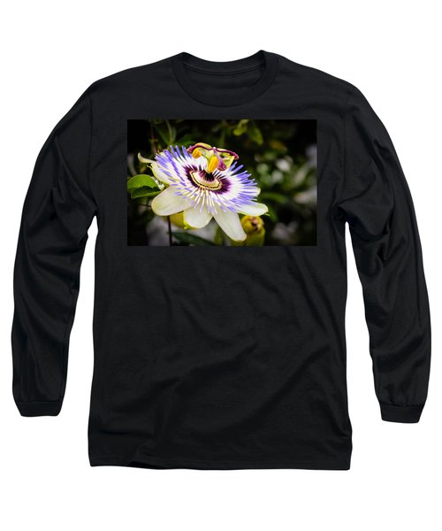 Blue Passion Flower Long Sleeve T-Shirt