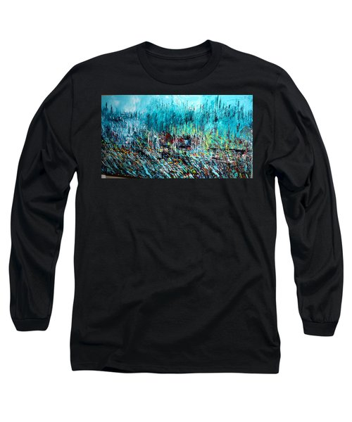 Blue Skies Chicago - Sold Long Sleeve T-Shirt by George Riney