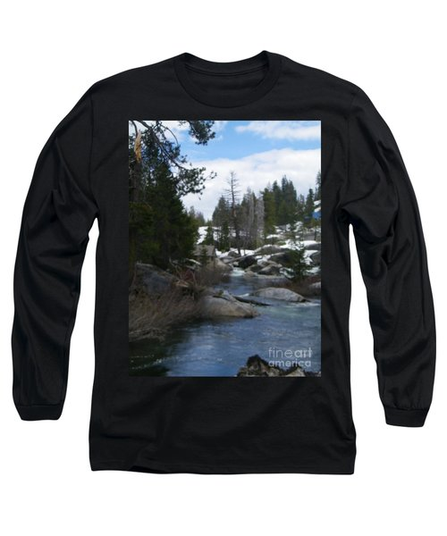 Long Sleeve T-Shirt featuring the photograph Blue Skies Of Winter by Bobbee Rickard
