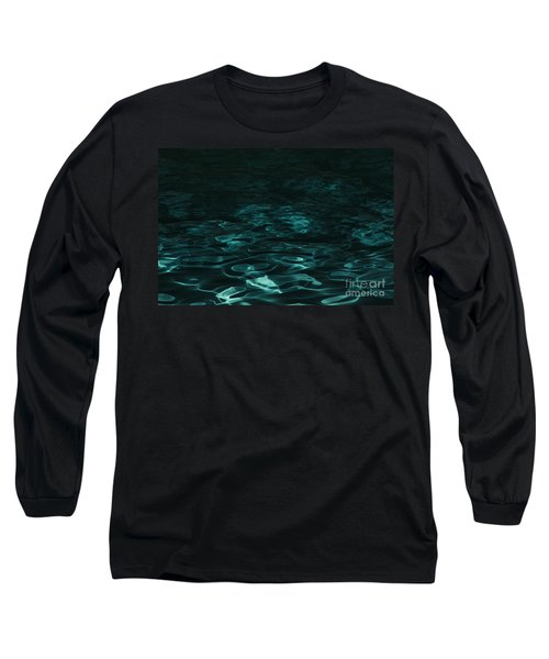Long Sleeve T-Shirt featuring the photograph Blue Swirl One by Chris Thomas