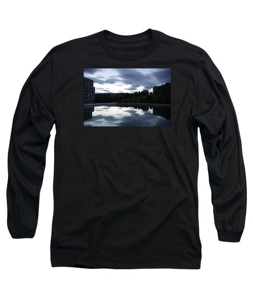 Long Sleeve T-Shirt featuring the photograph Blue Visions 1 by Teo SITCHET-KANDA