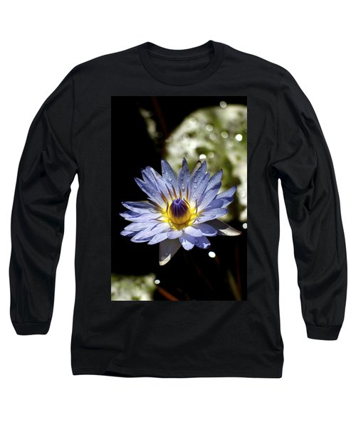 Waterlily After The Rain ... Long Sleeve T-Shirt by Lehua Pekelo-Stearns
