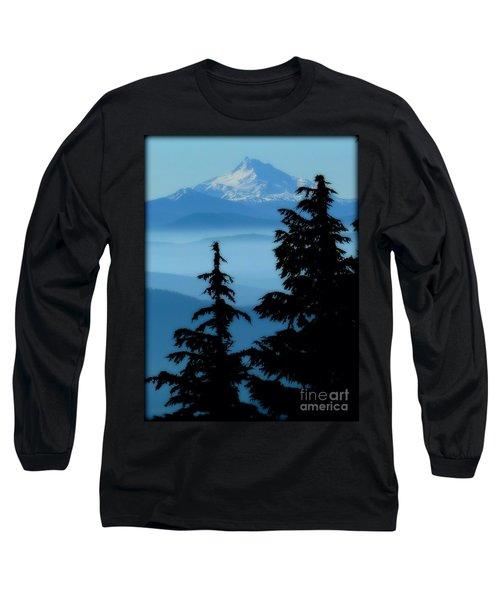 Blue Yonder Mountain Long Sleeve T-Shirt by Susan Garren