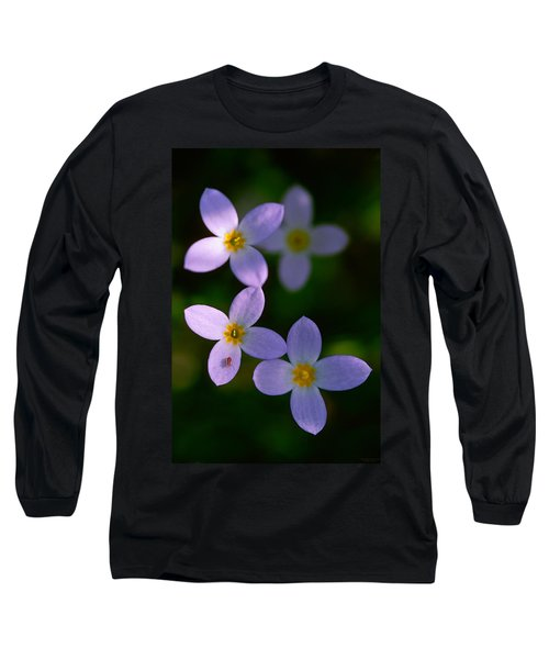 Long Sleeve T-Shirt featuring the photograph Bluets With Aphid by Marty Saccone