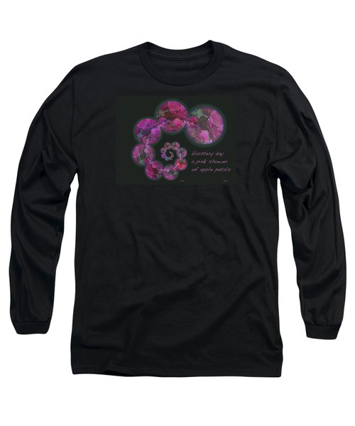 Long Sleeve T-Shirt featuring the photograph Blustery Day Haiga by Judi and Don Hall