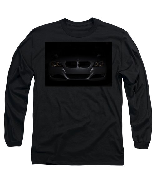 Bmw Car In Black Background Long Sleeve T-Shirt