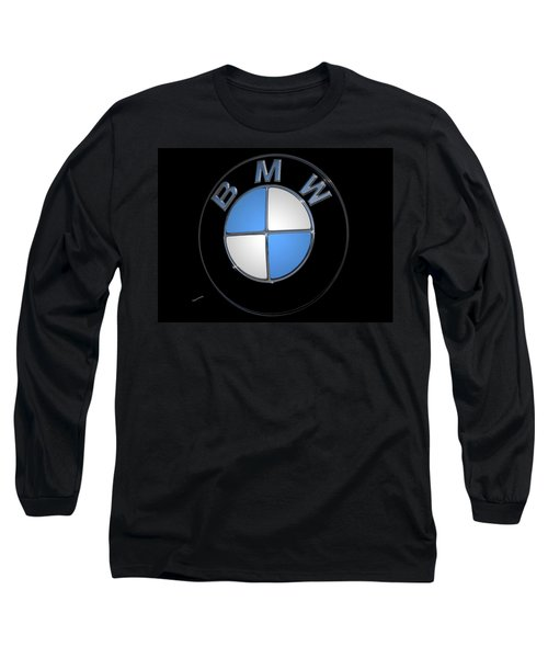 Bmw Emblem Long Sleeve T-Shirt by DigiArt Diaries by Vicky B Fuller