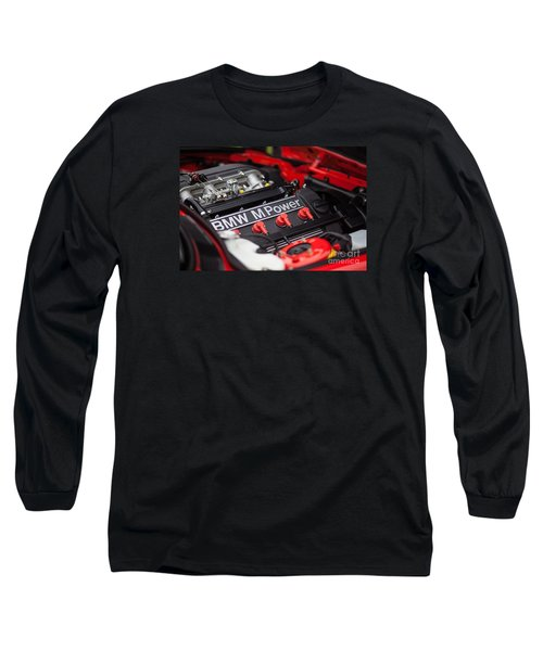 Bmw M Power Long Sleeve T-Shirt by Mike Reid