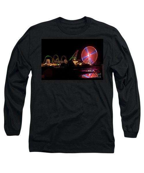 Boardwalk Night Long Sleeve T-Shirt by Greg Graham