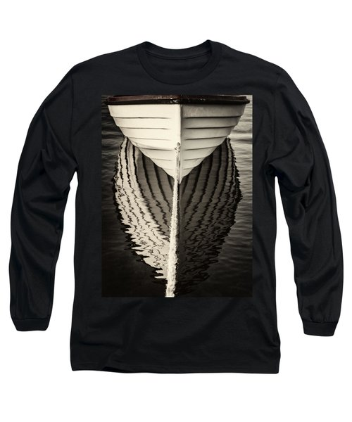 Boat Mirrored Long Sleeve T-Shirt by Mike Santis