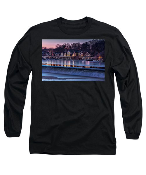 Long Sleeve T-Shirt featuring the photograph Boathouse Row by Susan Candelario