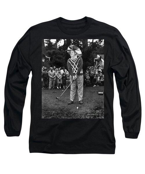 Bob Hope At Bing Crosby National Pro-am Golf Championship  Pebble Beach Circa 1955 Long Sleeve T-Shirt by California Views Mr Pat Hathaway Archives