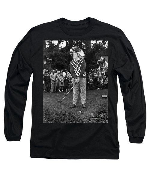 Bob Hope At Bing Crosby National Pro-am Golf Championship  Pebble Beach Circa 1955 Long Sleeve T-Shirt