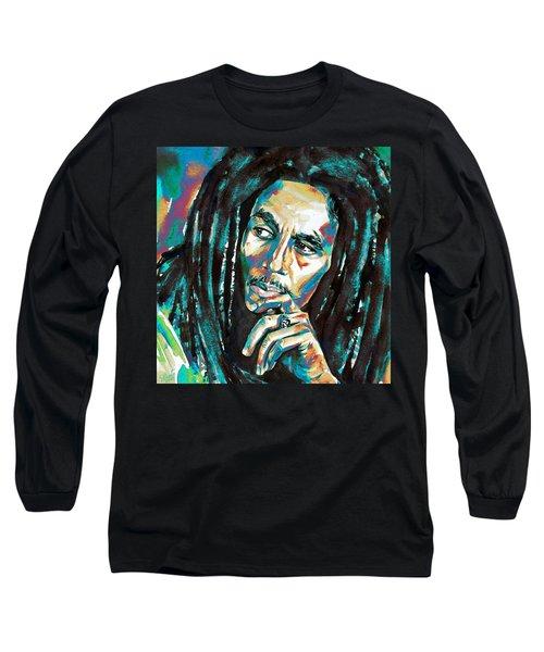 Bob Marley Watercolor Portrait.7 Long Sleeve T-Shirt