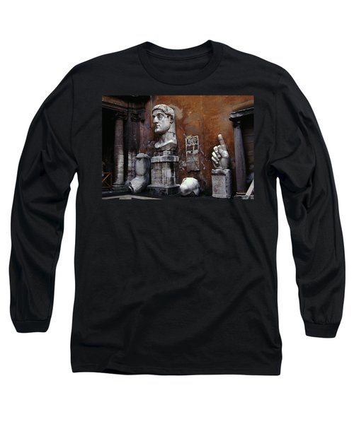 Body Parts The Colossus Of Constantine Rome Long Sleeve T-Shirt