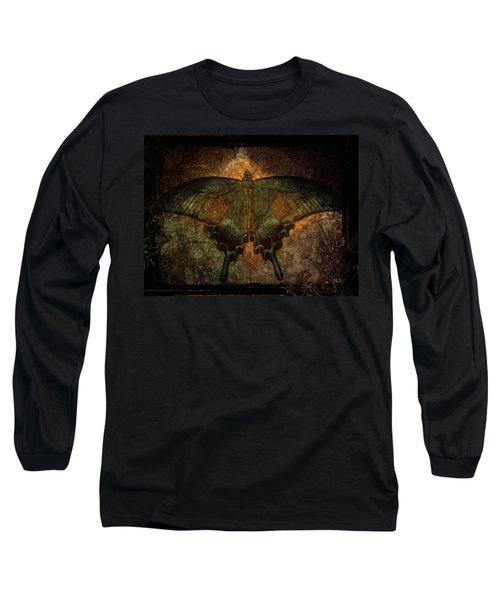 Bohemia Butterfly - Art Nouveau Long Sleeve T-Shirt by Absinthe Art By Michelle LeAnn Scott