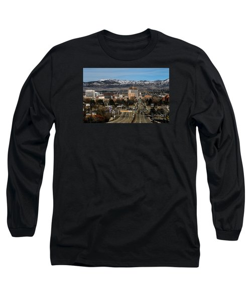 Boise Idaho Long Sleeve T-Shirt by Robert Bales