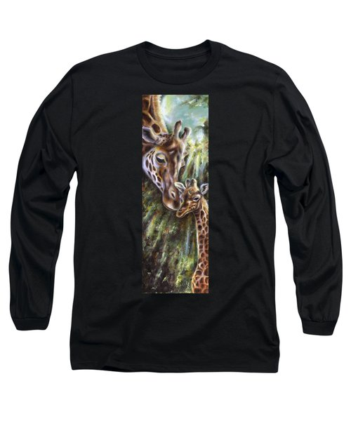Long Sleeve T-Shirt featuring the painting Bond by Hiroko Sakai