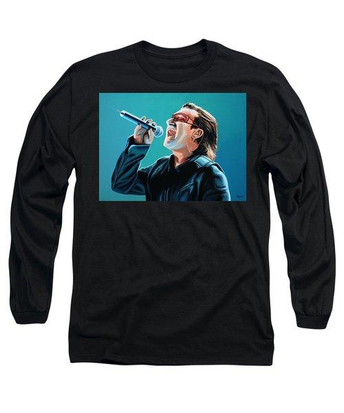 Bono Of U2 Painting Long Sleeve T-Shirt