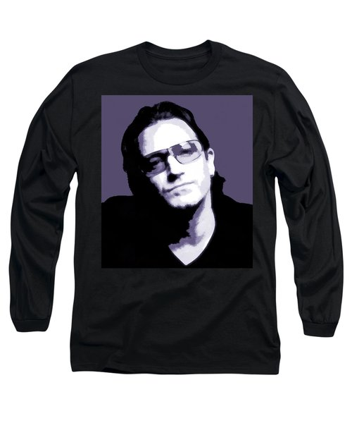 Bono Portrait Long Sleeve T-Shirt by Dan Sproul