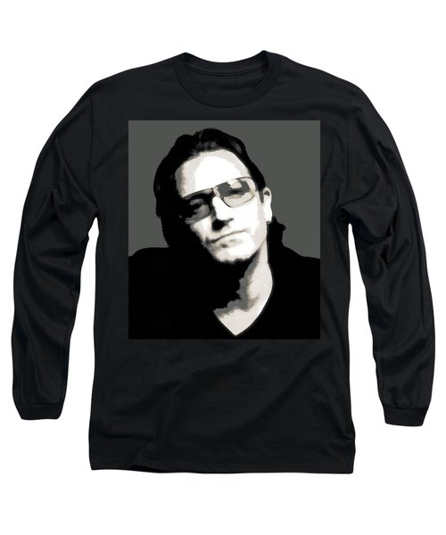 Bono Poster Long Sleeve T-Shirt by Dan Sproul