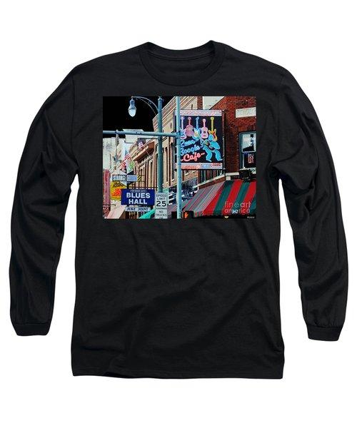 Boogie On Beale St Memphis Tn Long Sleeve T-Shirt