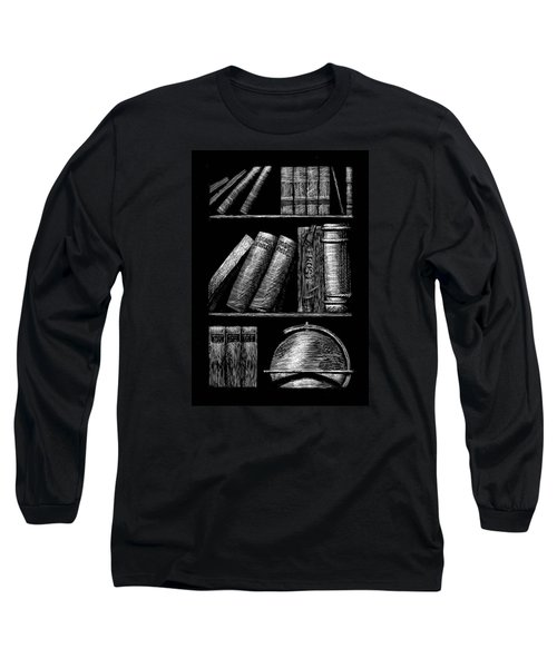 Books On Shelves Long Sleeve T-Shirt