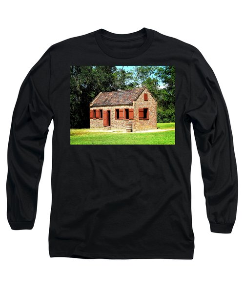 Long Sleeve T-Shirt featuring the photograph Boone Hall Plantation Slave Quarters by Greg Simmons
