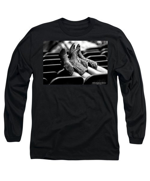 Boots Up - Bw Long Sleeve T-Shirt