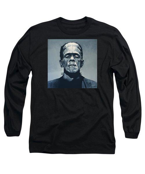 Boris Karloff As Frankenstein  Long Sleeve T-Shirt